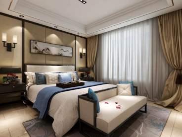 曲江紫汀苑新中式三室二厅装修效果图