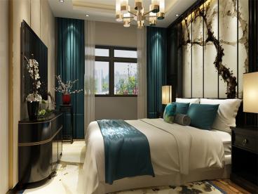 融创融园中式卧室效果图