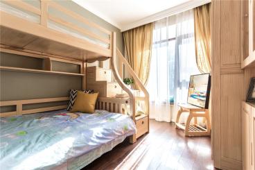 太原龙湖翡翠小区北欧卧室效果图