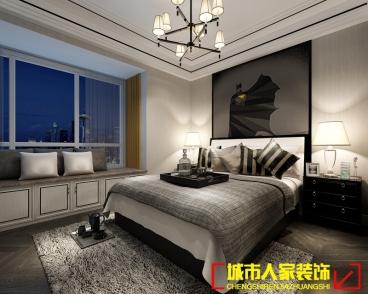 盛唐至尊后现代卧室效果图