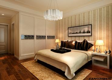 城建琥珀新天地現代簡約臥室效果圖
