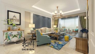 九洲城118平三室二厅装修效果图