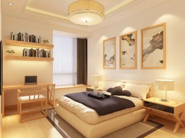 夏洛兹花园现代简约卧室效果图