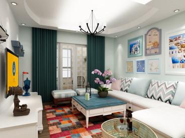 圣华名城三室二厅全包装修效果图