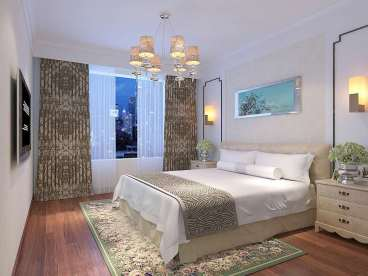 华富瑞士名居88平二室二厅装修效果图