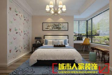 盛唐至尊中式卧室效果图