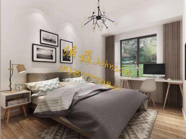 绿地国际花都住宅三室二厅现代简约装修效果