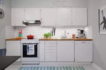 和骏新家园北欧厨房效果图