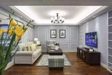 中发·印象外滩四室一厅美式装修效果图