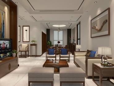 礼嘉嘉苑别墅五室一厅中式装修效果图