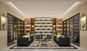 五洲东方墅300平六室四厅装修效果图