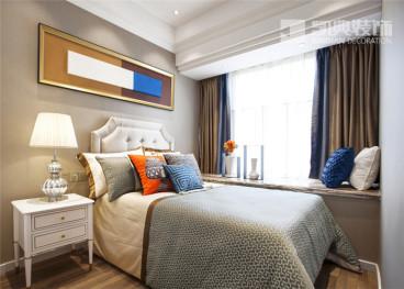 金马郦城东区时尚混搭卧室效果图