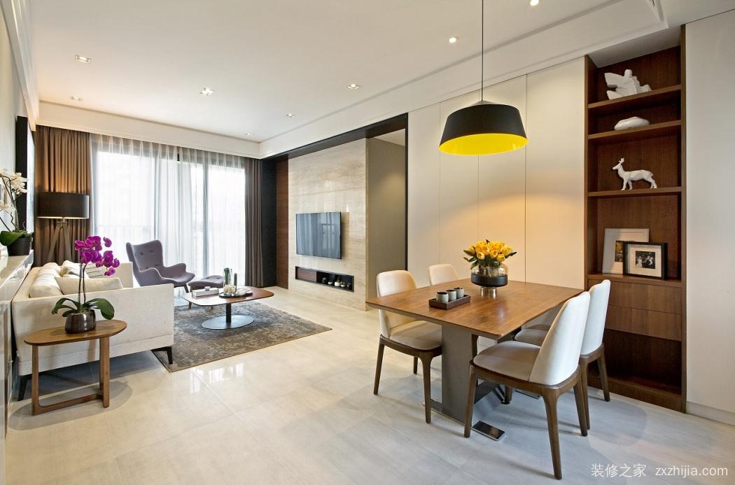 中南锦苑三室一厅125平装修效果图