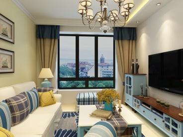 玫瑰园71平全包二室一厅装修效果图