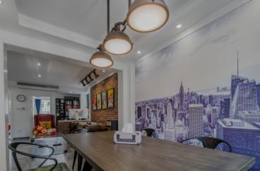 候潮公寓工业风餐厅实景图
