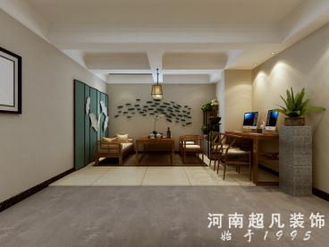龙湖锦艺城新中式廊道效果图