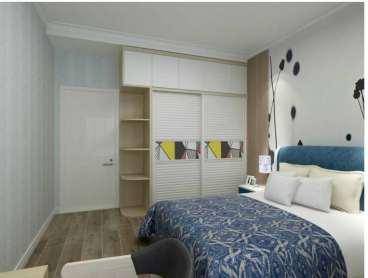 小桥金色家园美式卧室效果图