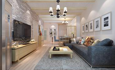 亿润·锦悦汇二室二厅现代简约装修效果图