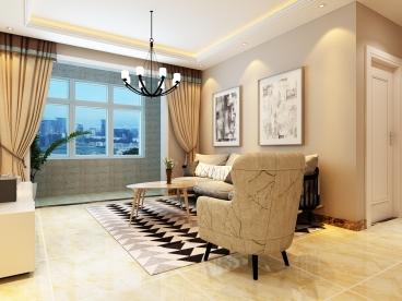中心国际城现代简约三室二厅装修效果图