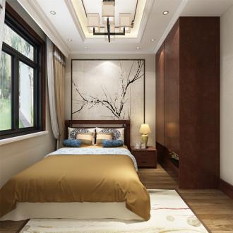 大地十二城新中式卧室效果图