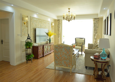 奥伦达部落居易世界观美式客厅效果图
