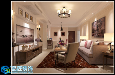绿都澜湾美式客厅效果图