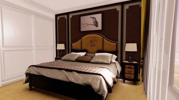 北裕世紀新城中式臥室效果圖