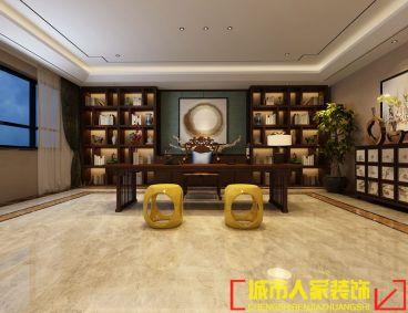 世纪华阳新中式书房效果图