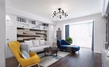 京汉·君庭现代简约客厅效果图