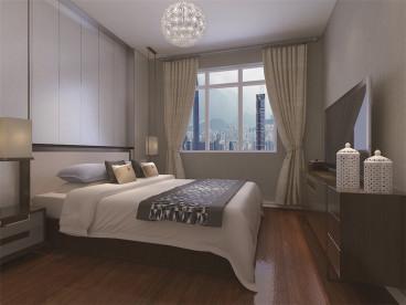 枫丹天城时尚混搭卧室效果图