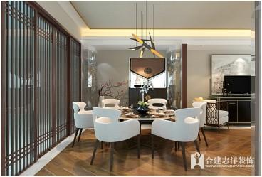 新中式现代简约餐厅效果图