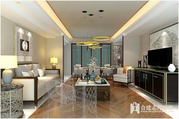 光熙家园新中式客厅效果图