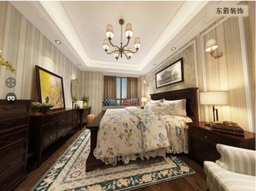 和昌中央城邦美式卧室效果图