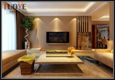 中海国际社区现代简约三室二厅装修效果图