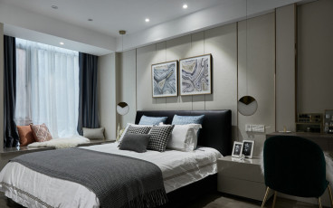 虎踞关住宅时尚混搭卧室效果图