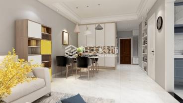 保利香槟国际88平二室二厅装修效果图