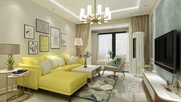 和昌中央城邦现代简约三室二厅装修效果图