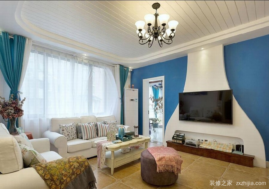 郫县百伦广场74平二室一厅装修效果图