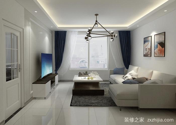创汇社区三室二厅现代简约装修效果图