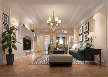 宜阳小区美式三室二厅装修效果图
