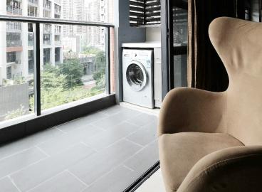 富力丽思国际公馆二期现代简约阳台效果图