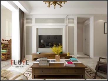 海尔云世界美式客厅效果图