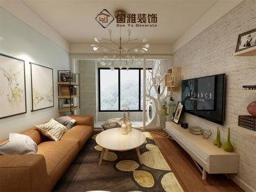 合肥铜冠花园现代简约二室一厅装修效果图