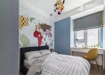 琥珀花園西苑現代簡約臥室效果圖