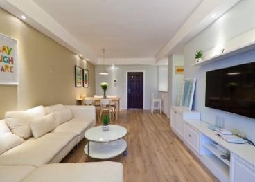 中亿建蓝海国际现代简约二室一厅装修效果图