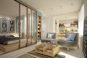 芭提雅苑一室一厅43平装修效果图