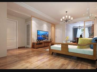 君悦美地全包三室二厅装修效果图