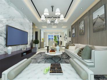 天房美棠现代简约客厅效果图
