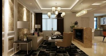 华茂名居一室二厅98平装修效果图