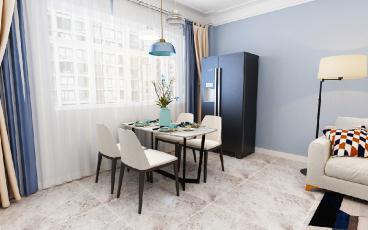 讨号板三室一厅现代简约装修效果图